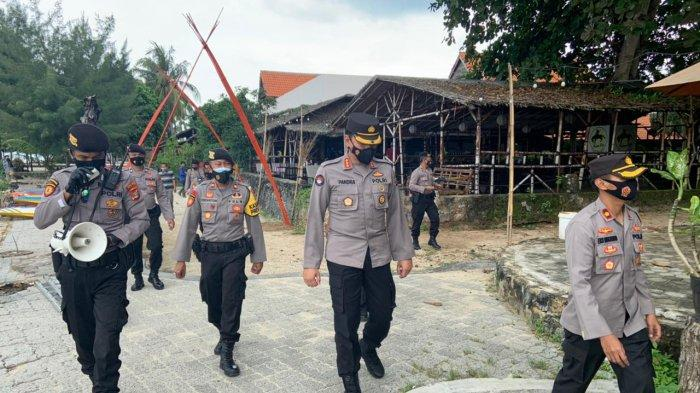 Kabid Humas Polda Lampung Kombes Pol Zahwani Pandra Arsyad Edukasi Prokes dan 3M di Kalianda