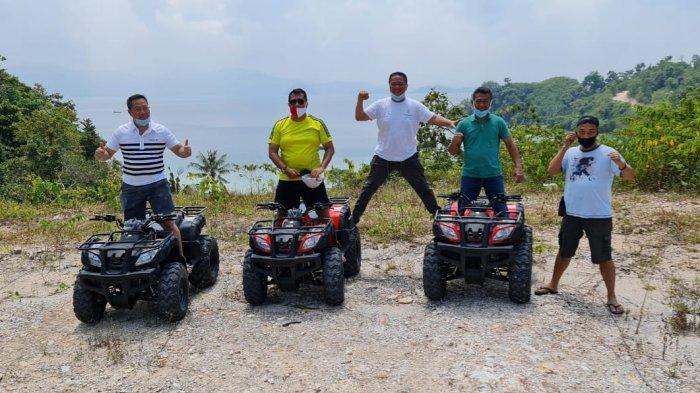 Pangdam Sriwijaya Mayjen TNI Ague Suhardi dan Kapolda Lampung Irjen Pol Purwardi Arianto bersama rombongan berkunjung ke Pulau Tegal Mas, Sabtu 19 September 2020.
