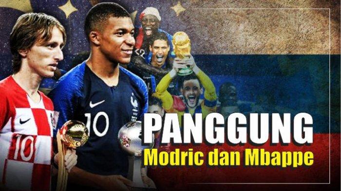 GRAFIS: Panggung Modric dan Mbappe, Gelar dan Hadiah Piala Dunia 2018
