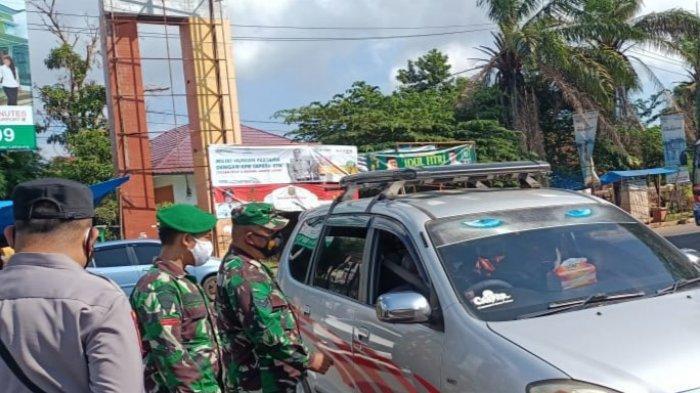 Pasca Libur Lebaran, Koramil 410-02/TBS Pantau Kendaraan di Pos Penyekatan Kemiling