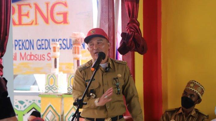 Peresmian GSG Pekon di Lambar, Kakon Paparkan Internet Desa dan Layanan Administrasi Mandiri