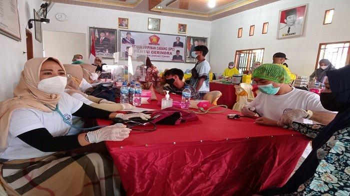 Partai Gerindra Lampung Tengah Gelar Vaksinasi Massal 1500 Dosis