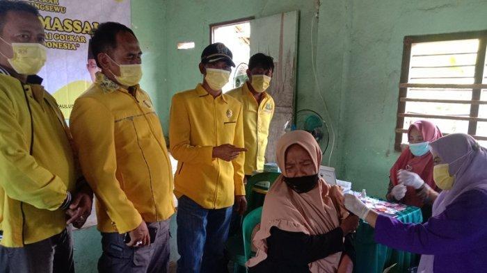 Partai Golkar Pringsewu Lampung Gelar Vaksinasi Massal di Desa, Siapkan 1.000 Dosis