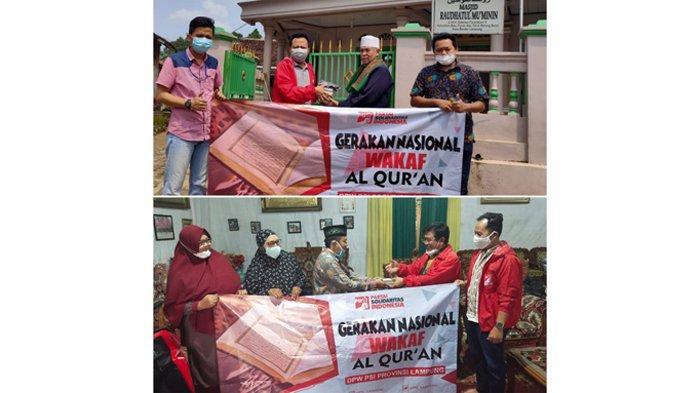 Partai Solidaritas Indonesia Lakukan Gerakan Nasional Bagikan Al Quran ke Masjid