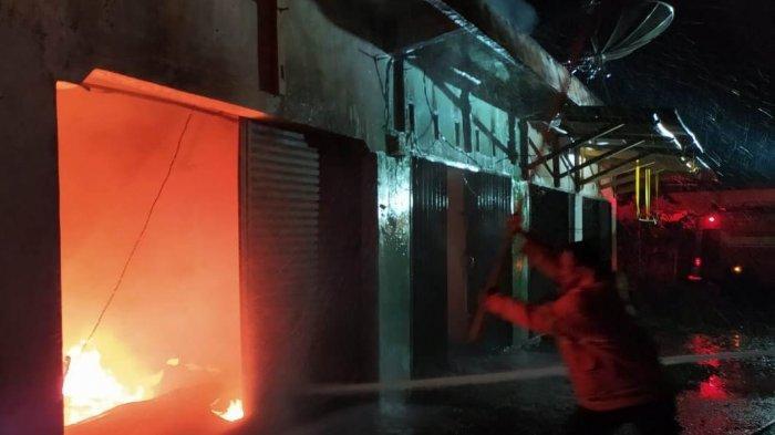 Pasar Baru Pringsewu Terbakar, Diduga karena Sambaran Petir