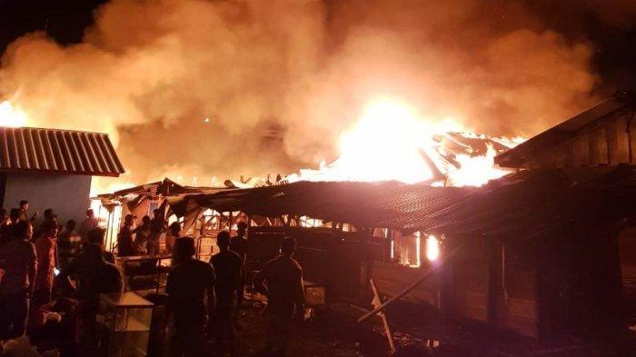 Hidran Tak Berfungsi, 100 Kios Pasar Way Jepara Ludes Terbakar