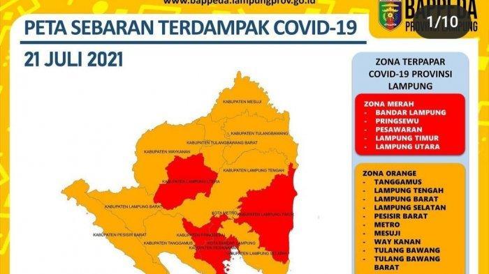 Pasca Perpanjangan PPKM, 5 Daerah di Lampung Berzona Merah