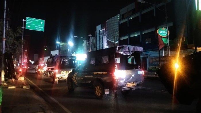 235 Personil Gabungan Gelar Patroli Skala Besar di Kota Bandar Lampung