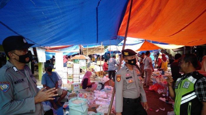 Antisipasi Gangguan Kamtibmas, Polsek Kasui Lampung Patroli KRYD di Pasar
