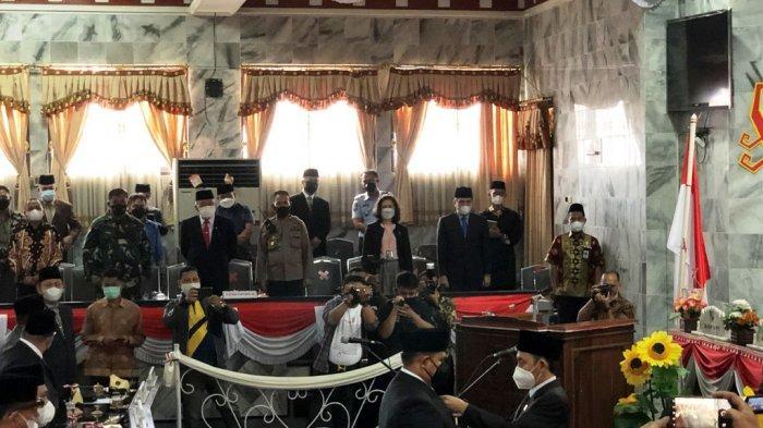 M Agung Cakranegara Resmi Gantikan Edi Sarnobi di DPRD Lampung Utara