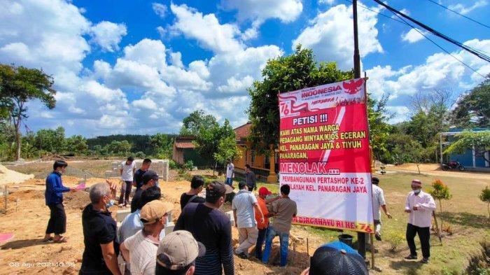 Pedagang BBM Eceran di Tubaba Lampung Gelar Aksi Menolak Pembangunan Pertashop