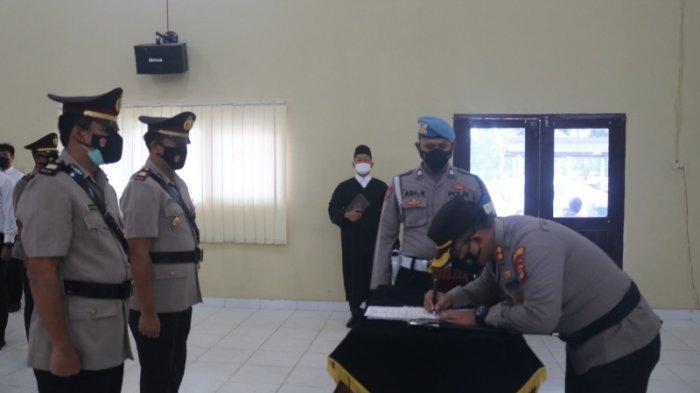 Polres Lampung Timur Gelar Sertijab Kasat Intelkam dan Kapolsek