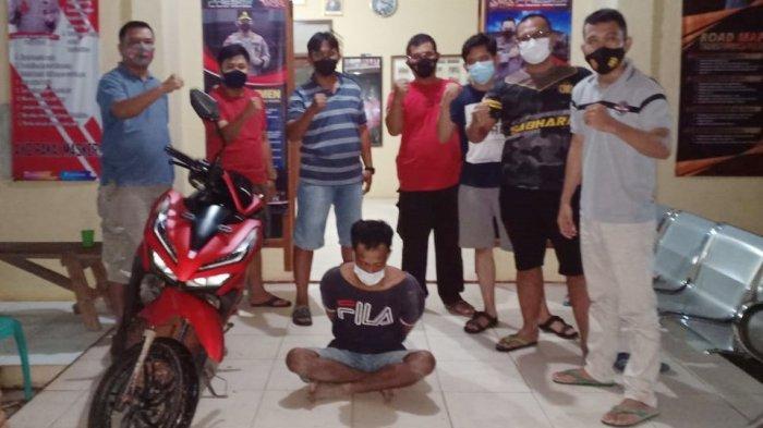 Beraksi di Rumah Tetangganya, Pelaku Curanmor di Tulangbawang Lampung Ditangkap