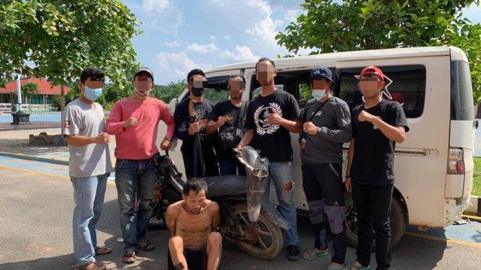 Tekap 308 Polres Mesuji Ringkus Pencuri Motor di Kebun Karet PT Silva