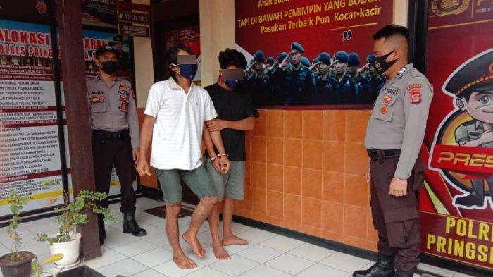BREAKING NEWS Dua Pelaku Curanmor Diamankan Polres Pringsewu Lampung, Satu Dihadiahi Timah Panas