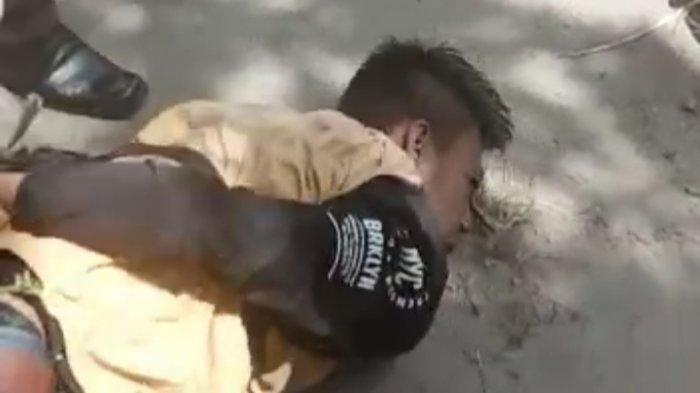 Aksinya Dipergoki, 2 Pelaku Pecah Kaca di Bumi Waras Bandar Lampung Jadi Bulan-bulanan Warga