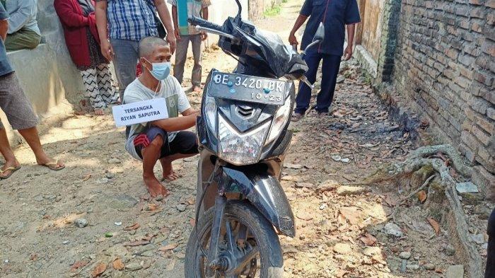Pelaku Pembunuhan di Lampung Selatan Bawa Kabur Motor Korban, Stiker dan Plat Sengaja Dicopot