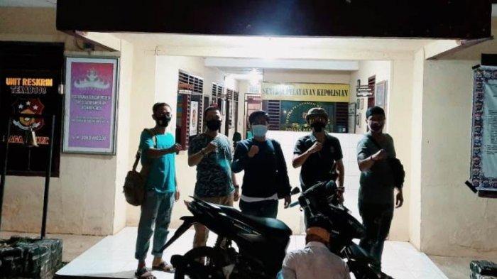 Pelaku Penggelapan Motor Ditangkap sedang Santai di Terminal Gadingrejo Pringsewu