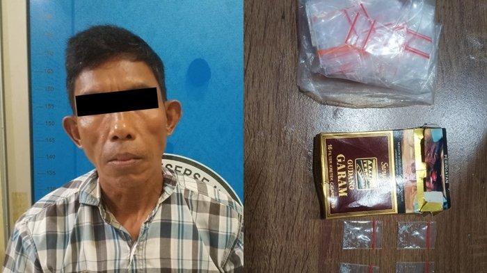 Pengedar Narkoba di Terusan Nunyai Lampung Tengah Simpan Sabu di Balik Dinding Dapur
