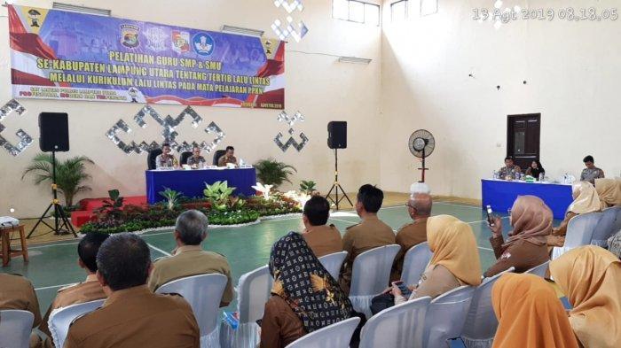 Tertib Lalu Lintas Masuk Kurikulum Sekolah, Polres Lampura Gelar Pelatihan Kepada Guru SD-SMP