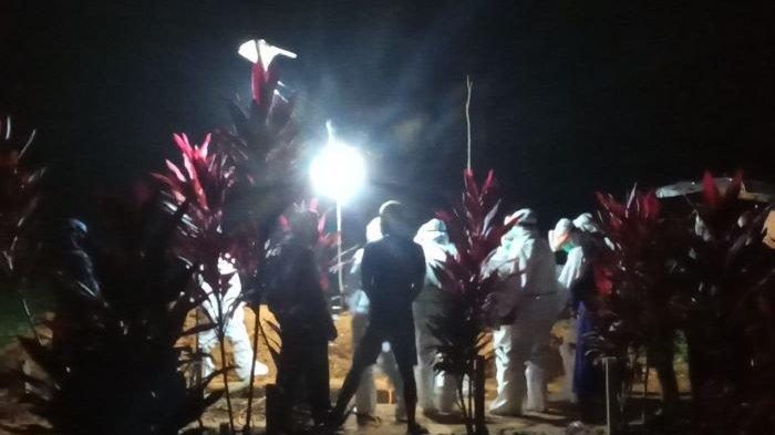 Pemakaman Pasien Covid-19 di Labuhan Maringgai Lampung Timur Dikawal TNI-Polri