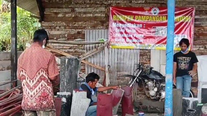 Badan Usaha Pekon Pampangan Lampung Barat Buat Wastafel, Manfaatkan Peluang Pandemi Covid-19