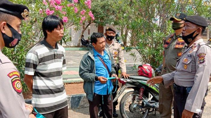 Pemkab dan Polisi Lakukan Razia Penegakan Displin Protokol Kesehatan di Lampung Selatan