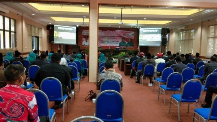 Pemkab Lampung Selatan Saksikan Pelantikan Bupati dan Wakil Bupati Terpilih Secara Virtual