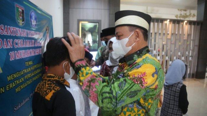Peringati Tahun Baru Islam, Pemkab Lampung Timur Santuni Anak Yatim