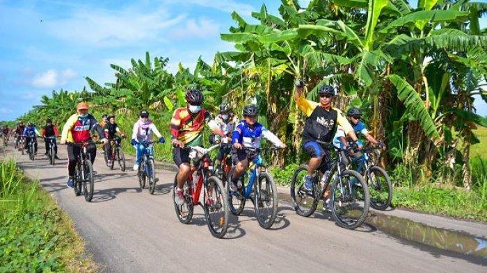Peringati HUT Ke-12, Pemerintah Kabupaten Mesuji Gelar Fun Bike