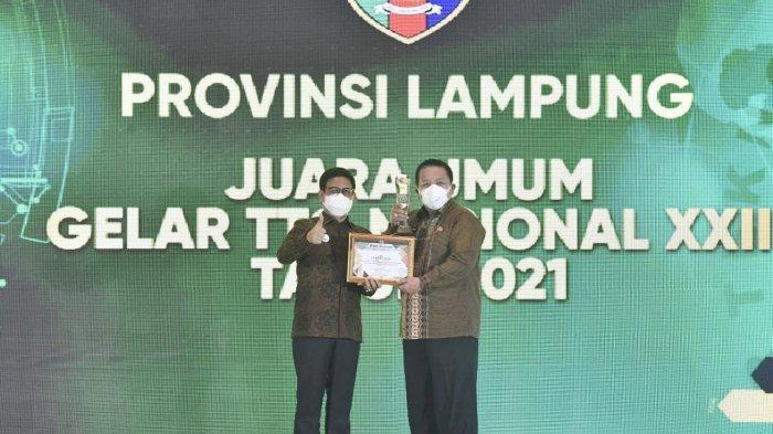Gubernur Arinal Djunaidi Terima Penghargaan pada Gelar Teknologi Tepat Guna Nasional XXII
