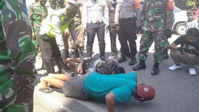 Lintasi Lokasi Rekonstruksi Penusukan Syekh Ali Jaber Tanpa Masker, Pemotor Dihukum Push Up