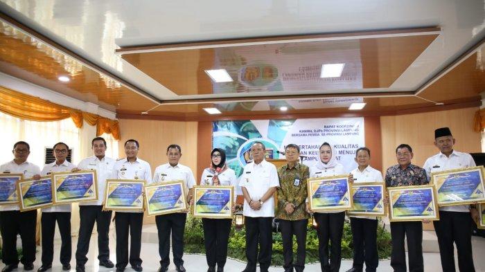 Pemprov lampung dan 12 Pemerintah Kabupaten/Kota se-Lampung Kembali Memperoleh  WTP