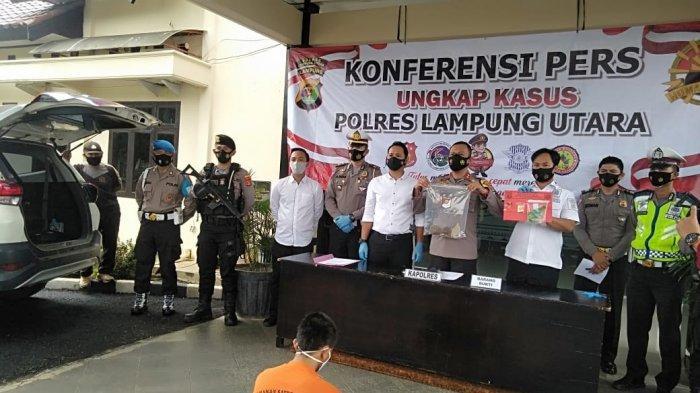 Diamankan karena Lempar Mobil Polisi Pakai Batu, Pemuda di Lampung Utara juga Kedapatan Bawa Sabu