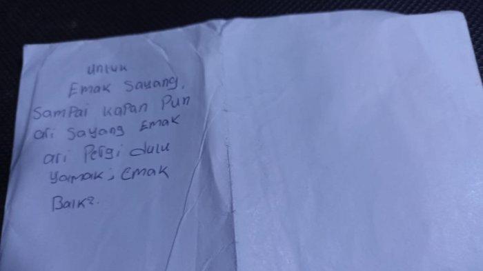 Akhiri Hidup di Kebun, Secarik Surat Ungkap Betapa Pemuda dari Lampung ini Sangat Sayang Ibunya