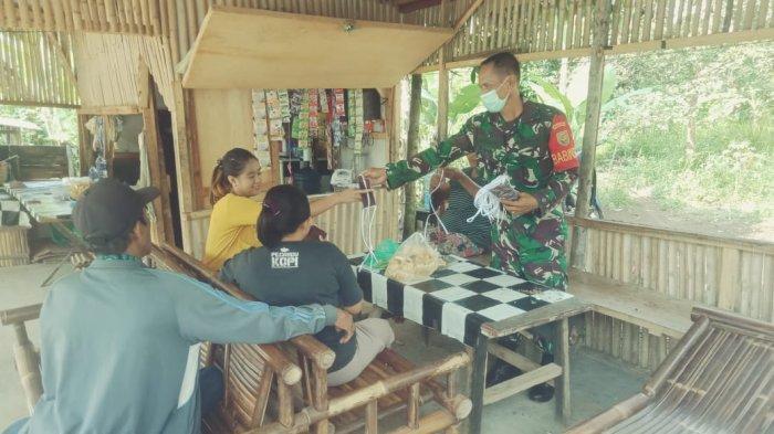 Koramil 410-05/TKP Rutin Edukasi Prokes Hingga ke Pemukiman Warga