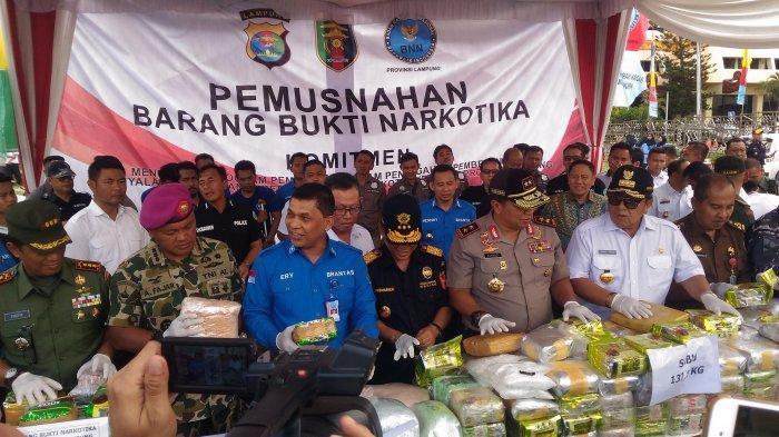 Lampung Peringkat ke-10 Darurat Narkoba, Jadi Daerah Pemasaran yang Potensial