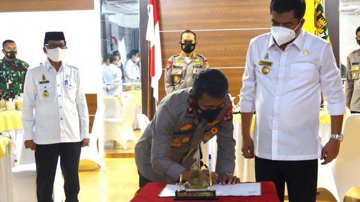 Pemkab Lampung Tengah Hibahkan Lahan Pembangunan Mako Batalyon B Brimob Polda Lampung