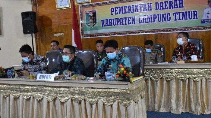 Gubernur Lampung Gelar Rapat Vicon Pencegahan Penyebaran Covid-19 Bersama Bupati Lampung Timur