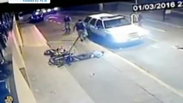 Pencuri Motor Kabur Tabrak Tiang Listrik hingga Tersungkur dan Tewas Dihajar Massa
