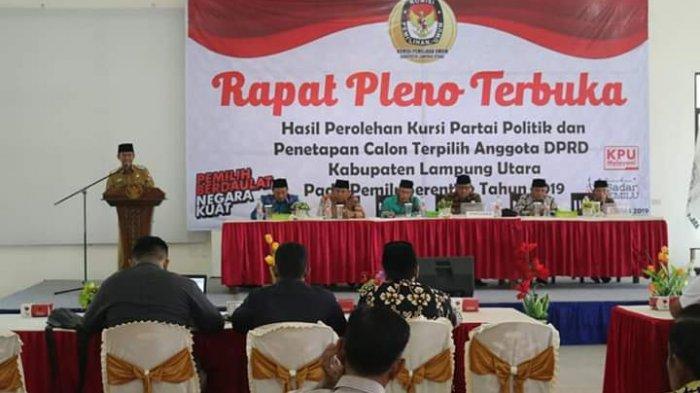 Penetapan 45 Anggota DPRD Terpilih oleh KPUD Lampung Utara