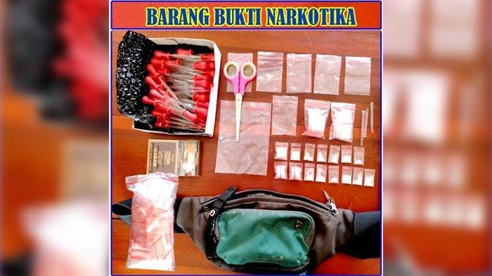 Pengedar Narkoba di Way Kanan Ditangkap Polisi saat di Rumah Makan, Banyak BB Ditemukan