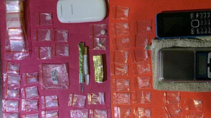 Bekuk Pengedar di Sukajawa Baru, Polisi Sita 40 Paket Sabu