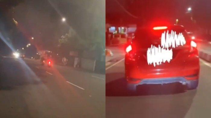 Viral Video Pengemudi Honda Jazz Tabrak Lari Driver Ojek Online
