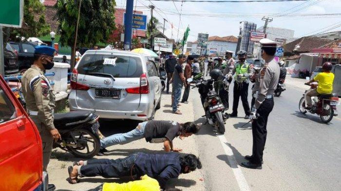 41 Pengendara di Jalinbar Pringsewu Terjaring Operasi Penegakan Protokol Kesehatan