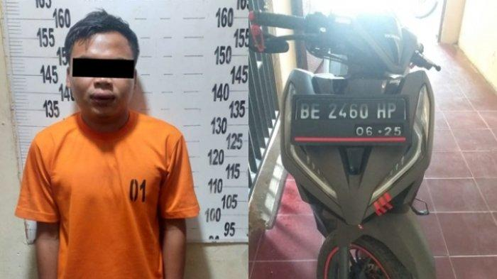 BREAKING NEWS Bawa Kabur Motor Teman, Pria Lampung Tengah Diamankan Polisi