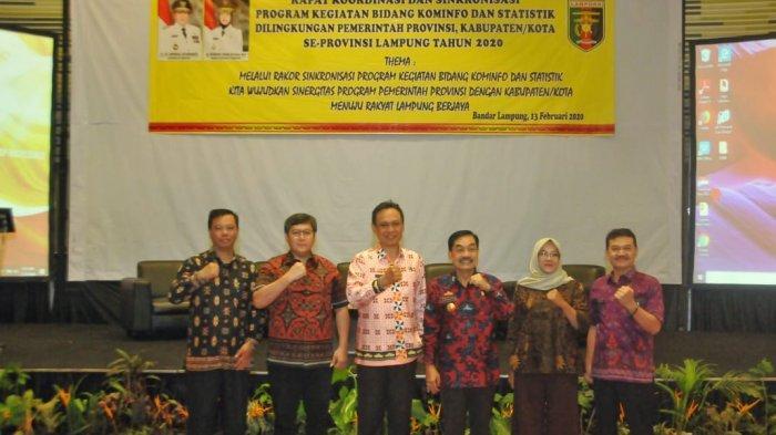 Dinas Kominfotik Gelar Rapat Dengan Dinas Kominfo Kabupaten/Kota Se-Lampung