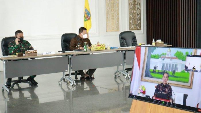 Gubernur Arinal ikuti Arahan Presiden dalam Rapat Evaluasi Perkembangan PPKM di luar Jawa-Bali