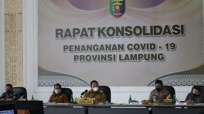 Pemprov Konsolidasiikan Kabupaten dan Kota dalam Penanganan Covid-19  di Lampung