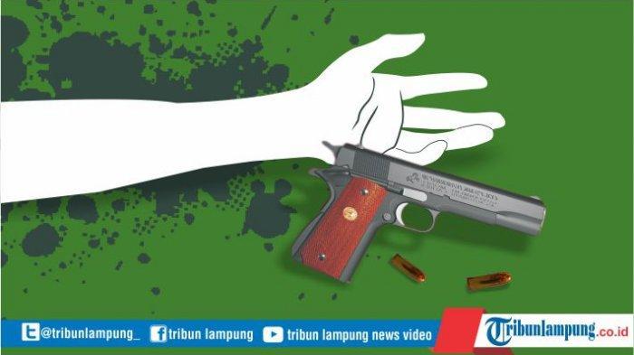 Suami di Lampung Tega Tembak Istri Gegara Minta Cerai